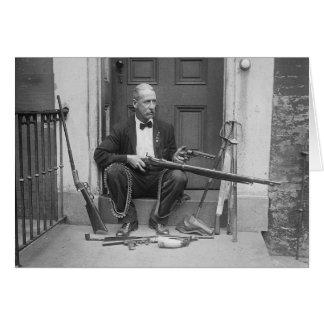 Caballero Gunslinger, 1927 Tarjeta De Felicitación