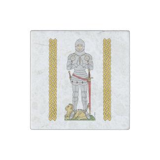 Caballero inglés, circa 1430, imán de mármol imán de piedra