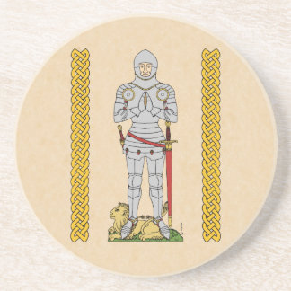 Caballero inglés, circa 1430, práctico de costa de posavaso para bebida