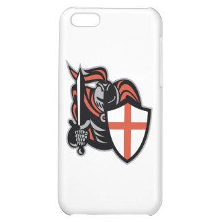 Caballero inglés con el escudo de Inglaterra de la