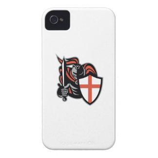 Caballero inglés con el escudo de Inglaterra de la iPhone 4 Carcasa