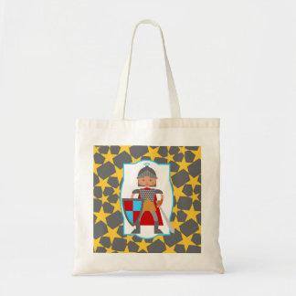 Caballero medieval encantador bolsa tela barata