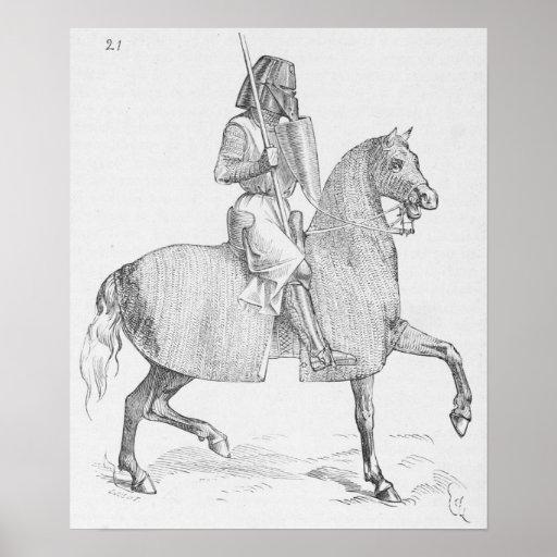 Caballero medieval póster