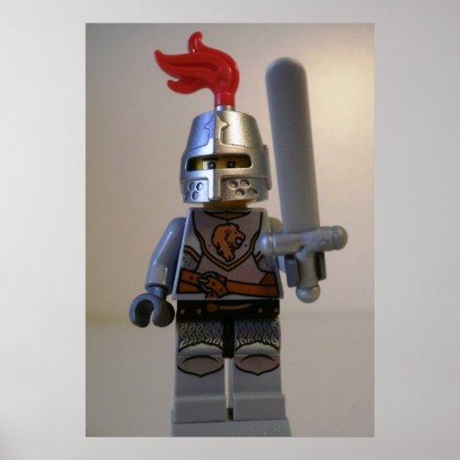 Caballero Minifig del león de los reinos Posters