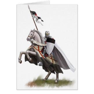 Caballero montado Templar Tarjetas