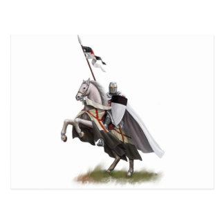 Caballero montado Templar Postal