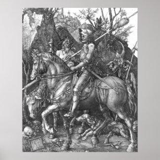 Caballero, muerte y el diablo, 1513 (grabado)