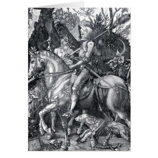 Caballero, muerte y el diablo - Albrecht Dürer Tarjeton