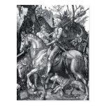 Caballero, muerte y el diablo - Albrecht Dürer Postales