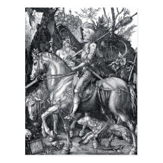 Caballero muerte y el diablo - Albrecht Dürer Postales