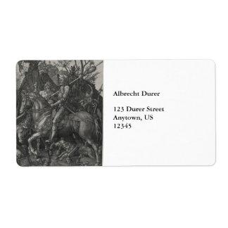 Caballero muerte y el diablo de Albrecht Durer Etiquetas De Envío