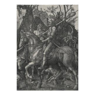 Caballero muerte y el diablo de Albrecht Durer Invitacion Personalizada