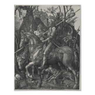 Caballero, muerte y el diablo de Albrecht Durer Cojinete