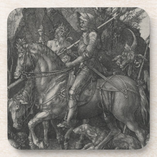 Caballero, muerte y el diablo de Albrecht Durer Posavasos