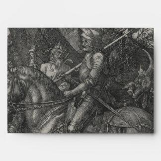 Caballero, muerte y el diablo de Albrecht Durer Sobre