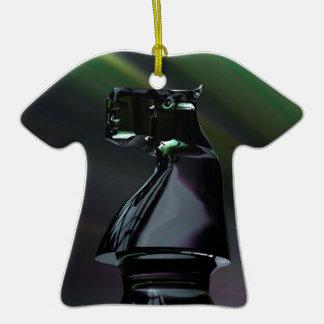 Caballero negro abstracto ornamento para arbol de navidad
