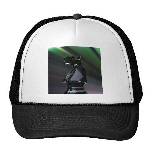 Caballero negro abstracto gorras de camionero