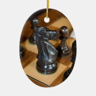Caballero negro adornos de navidad