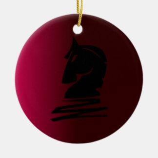 Caballero negro en color de malva adorno de navidad