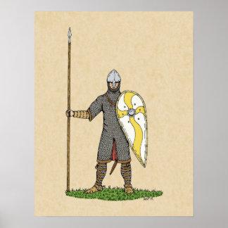 Caballero normando circa 1066 póster