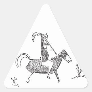 Caballero Calcomanía Triangulo Personalizadas