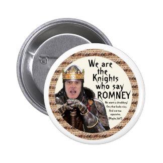 Caballero que dice Romney Pin Redondo De 2 Pulgadas