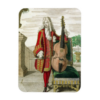Caballero que toca el violoncelo, c.1688-90 public imán