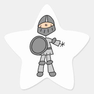 Caballero real pegatina en forma de estrella
