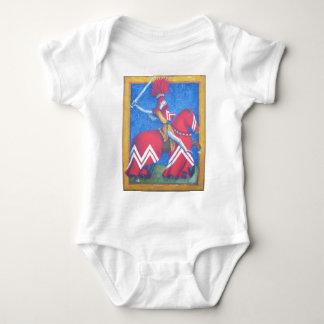 Caballero rojo body para bebé