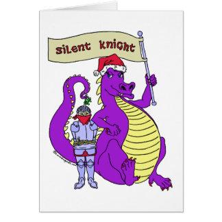 Caballero silencioso tarjeta de felicitación