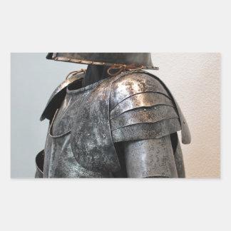 Caballero Templar dos Rectangular Pegatina