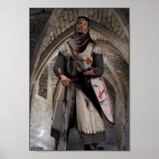 Caballero Templar - el soporte pasado Impresiones