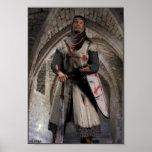 Caballero Templar - el soporte pasado Póster