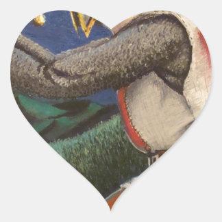 caballero templar pegatina en forma de corazón