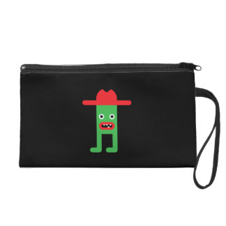 Caballero verde, gorra rojo