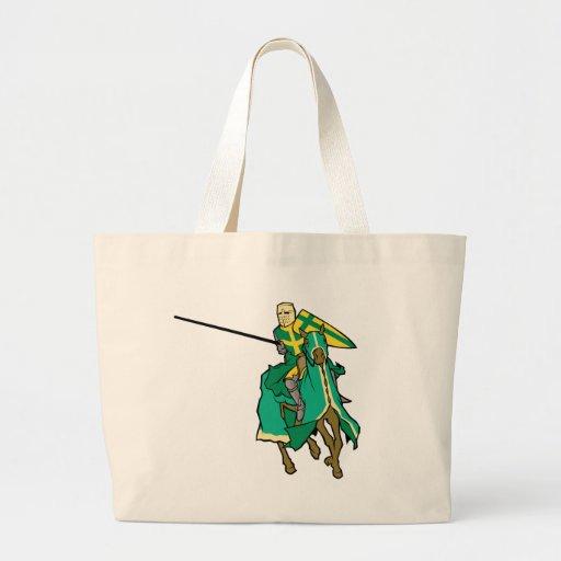 Caballero verde Jousting Bolsa Tela Grande