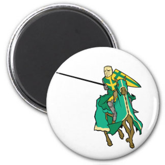 Caballero verde Jousting Imán Redondo 5 Cm