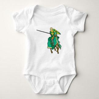 Caballero verde Jousting Playera