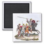 Caballero y Archers normandos, 1066, del 'brazo an Imán Cuadrado