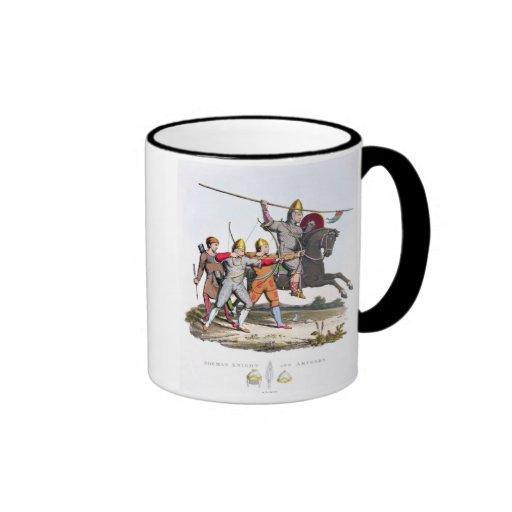 Caballero y Archers normandos, 1066, del 'brazo an Taza A Dos Colores