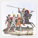 Caballero y Archers normandos, 1066, del 'brazo Pegatina Cuadrada
