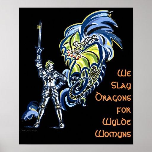 Caballero y dragón poster
