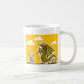 Caballero y dragón taza