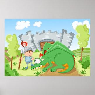 Caballero y el dragón impresiones