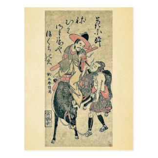 Caballero y mozo de cuadra que fuman por Suzuki, H Postal