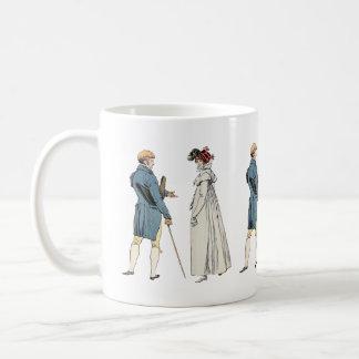 Caballero y señora del Victorian Taza Clásica