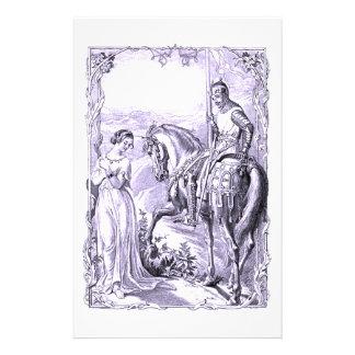 Caballero y señora medievales  papeleria