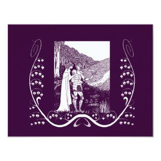 """Caballero y señora Wedding Invitation de Beardsley Invitación 4.25"""" X 5.5"""""""