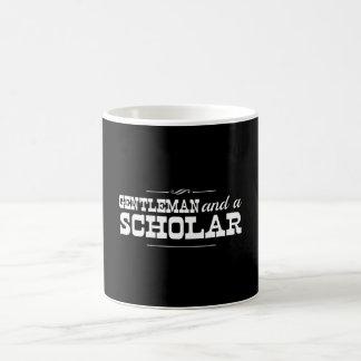 Caballero y un escolar taza básica blanca
