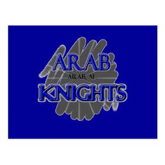 CABALLEROS árabes de la High School secundaria - Postal